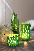 Décoration pour la maison, bougies sur table — Photo