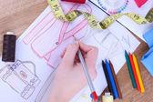 Moda Tasarımcısı kapatın — Stok fotoğraf