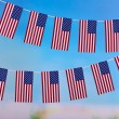 Garland of flags on bright background — Stock Photo #39583281
