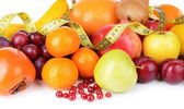 Assortment of exotic fruits close-up — Stock Photo