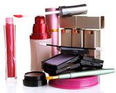 New makeup set isolated on white — Stockfoto