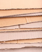 Cardboard for recycling close-up — Stockfoto