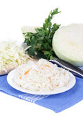 Marinated cabbage (sauerkraut), isolated on white — Stock Photo