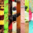 Collage of various desserts — Stock Photo