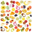 Collage of fresh fruits isolated on white — Stock Photo #39804387