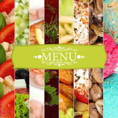 Collage of dishes for restaurant menu — Stockfoto