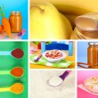 Baby food collage — Stock Photo #39907879