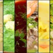 Stock Photo: Collage of various soups