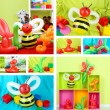 Collage of simple balloon animals — Stock Photo #39908047