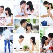 Stock Photo: Collage of lovely couple