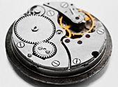 Uhrwerk Details, Ritzel und Laufräder — Stockfoto