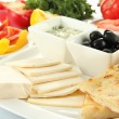Traditional Turkish breakfast close up — Stock Photo