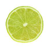Skiva färsk lime, isolerad på vit — Stockfoto