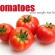 Stock Photo: Tomatoes isolated on white