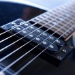 Stock Photo: Electric guitar , close up