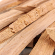 Stack of firewood close up — Stock Photo