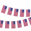 Garland of flags isolated on white — Stock Photo #39956943