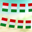 Garland of flags on bright background — Stock Photo #39956945