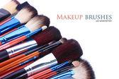 Make-up brushes isolated on white — Stock Photo