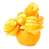 Carving orange tree isolated on white — Stock Photo