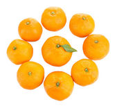 Ripe sweet tangerines, isolated on white — Stock Photo