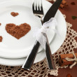 Holiday table setting close-up — Stock Photo #40135859