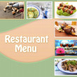 Restaurant menu — Stock Photo