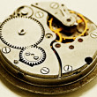 Clockwork details, pinions and wheels — Stock Photo #40203229