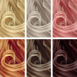Hair Color Samples — Stock Photo #40203261