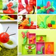 Stock Photo: Collage of simple balloon animals