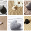 Collage of zen garden with sand and stones — Stock Photo #40203777