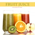 Fresh fruit juices isolated on white — Stock Photo #40204675