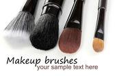 Cosmetic brushes isolated on white — Stock Photo