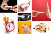 Concept of stop smoking — Stock Photo