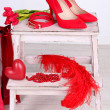 Beautiful red female accessories — Stock Photo #40334713
