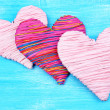 Decorative heart on wooden background — Stock Photo #40335715