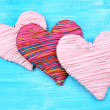 Decorative heart on wooden background — Stock Photo #40335741