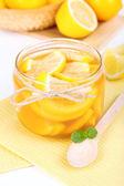 Compota de limão saboroso close-up tabela — Fotografia Stock
