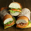 Stock fotografie: Fresh and tasty sandwich close up