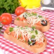 Stock fotografie: Delicious bruschettwith tomatoes on table close-up