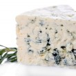Stock fotografie: Tasty blue cheese with rosemary, isolated on white