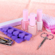 Pedicure set on table close-up — Stock Photo #40395517