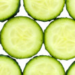 Slices of fresh cucumber, close up — Stock Photo #40396951