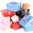 Gift boxes isolated on white — Stock Photo #40398289