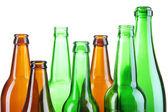 Glass bottles isolated on white — Stock Photo