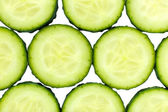 Slices of fresh cucumber, close up — Stock Photo