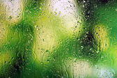 Glass with natural water drops — Stock Photo