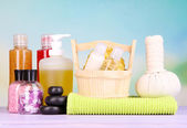 Spa setting on bright background — Stock Photo