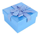 Gift box isolated on white — Stock Photo