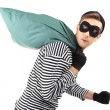 Stock fotografie: Thief with bag, isolated on white